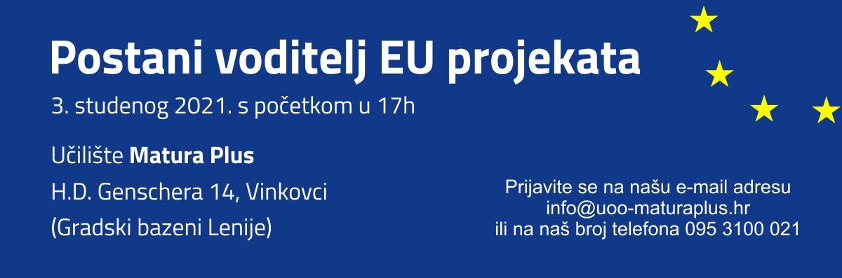Postani voditelj EU projekata